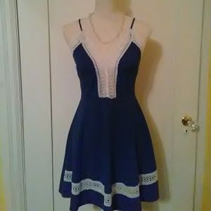 I.joah blue dress size small